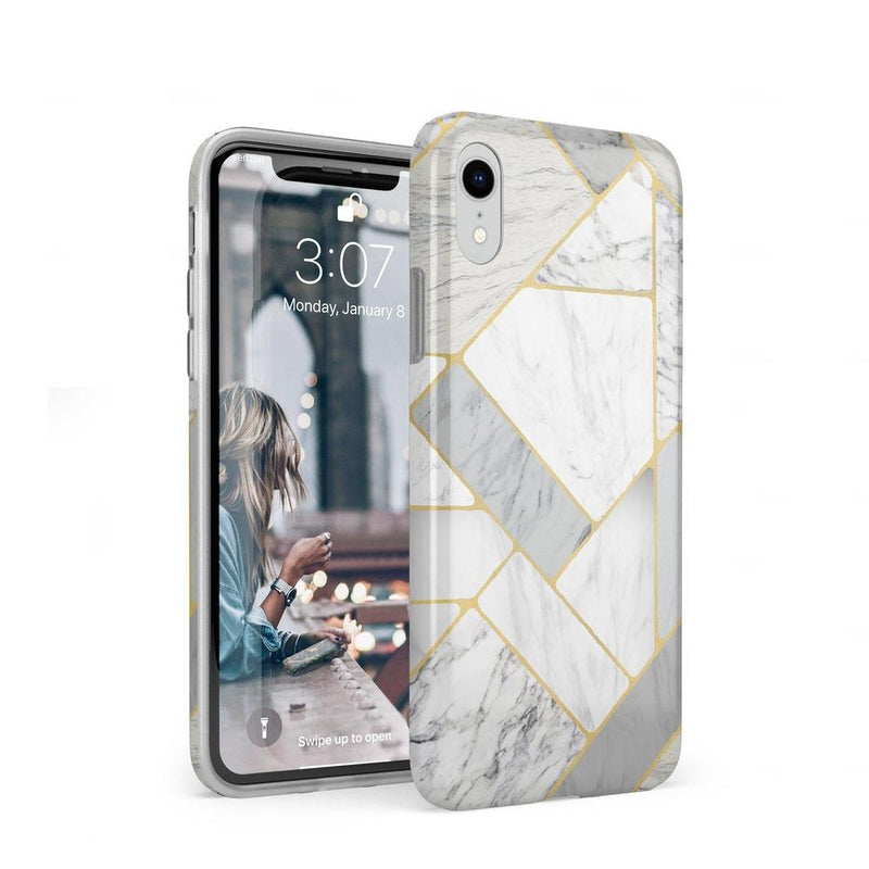 Geo White and Gold Marble Case iPhone Case Get.Casely Classic iPhone XR