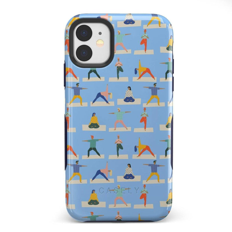 Go with the Flow Light Blue Yoga Case iPhone Case get.casely Bold iPhone 11