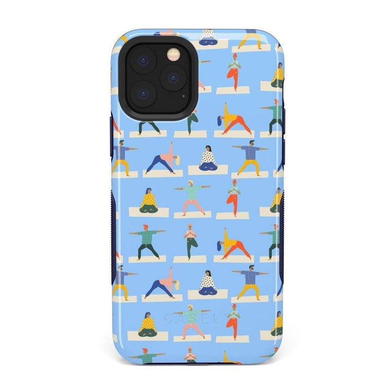 Go with the Flow Light Blue Yoga Case iPhone Case get.casely Bold iPhone 11 Pro