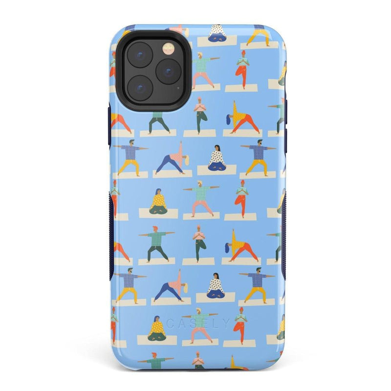 Go with the Flow Light Blue Yoga Case iPhone Case get.casely Bold iPhone 11 Pro Max