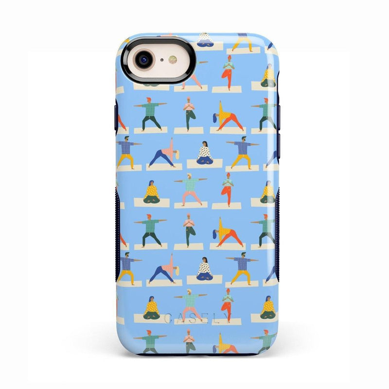 Go with the Flow Light Blue Yoga Case iPhone Case get.casely Bold iPhone 8
