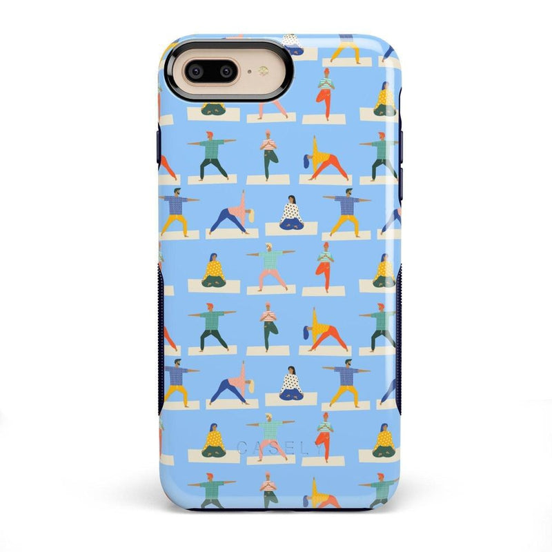 Go with the Flow Light Blue Yoga Case iPhone Case get.casely Bold iPhone 8 Plus