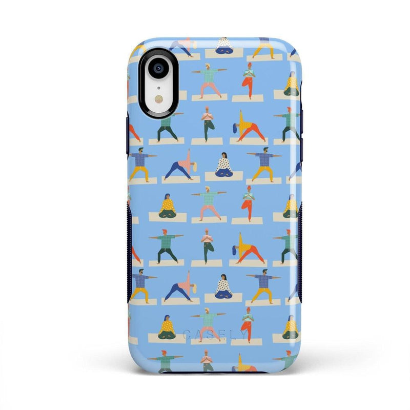 Go with the Flow Light Blue Yoga Case iPhone Case get.casely Bold iPhone XR