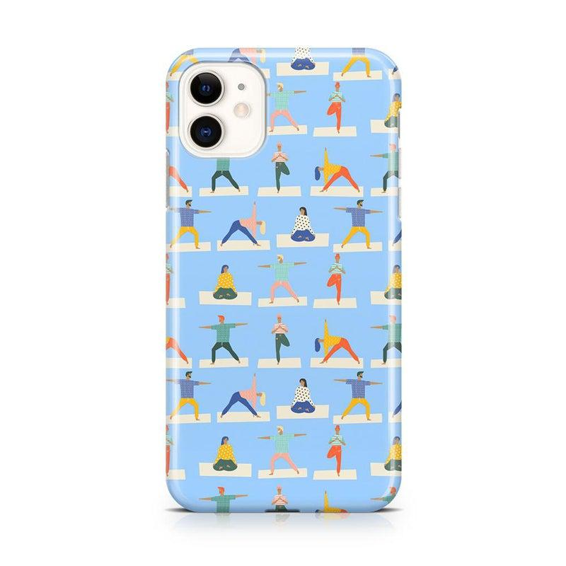 Go with the Flow Light Blue Yoga Case iPhone Case get.casely Classic iPhone 11