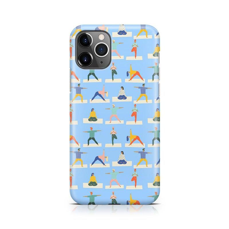 Go with the Flow Light Blue Yoga Case iPhone Case get.casely Classic iPhone 11 Pro Max