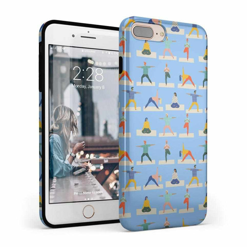 Go with the Flow Light Blue Yoga Case iPhone Case get.casely Classic iPhone 8 Plus