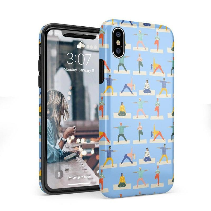 Go with the Flow Light Blue Yoga Case iPhone Case get.casely Classic iPhone X / XS