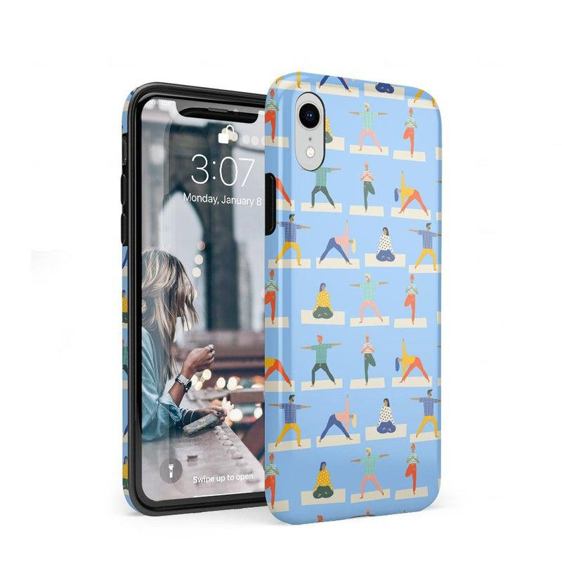 Go with the Flow Light Blue Yoga Case iPhone Case get.casely Classic iPhone XR