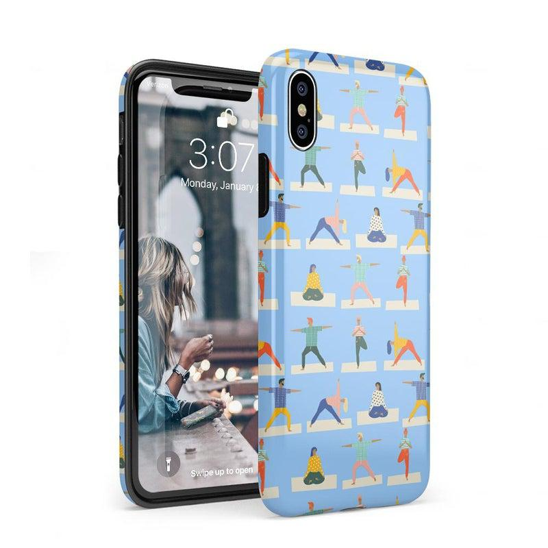 Go with the Flow Light Blue Yoga Case iPhone Case get.casely Classic iPhone XS Max