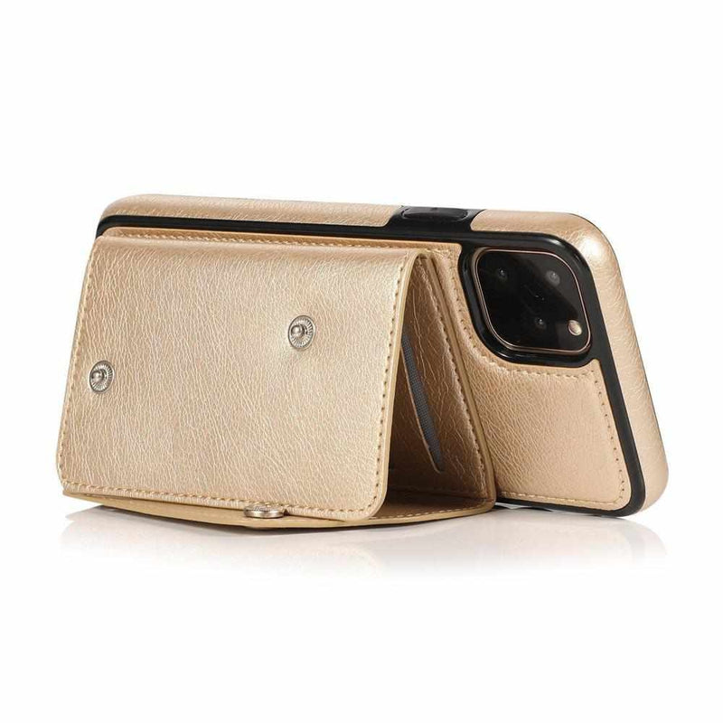 Gold Leather Wallet Case iPhone Case get.casely