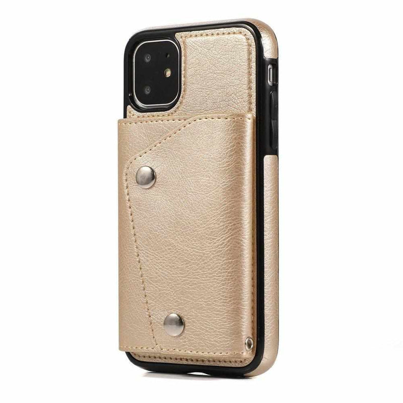 Gold Leather Wallet Case iPhone Case get.casely iPhone 11
