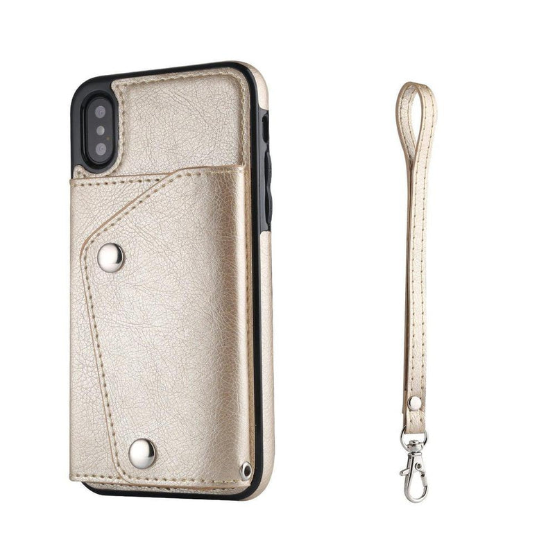 Gold Leather Wallet Case iPhone Case get.casely iPhone X / XS