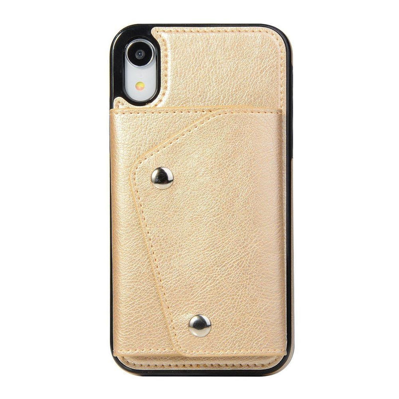 Gold Leather Wallet Case iPhone Case get.casely iPhone XR