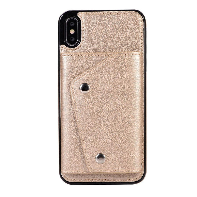 Gold Leather Wallet Case iPhone Case get.casely iPhone XS Max
