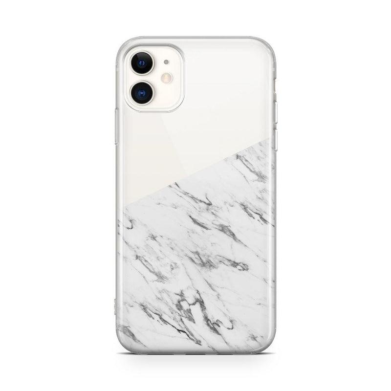 Half White Clear Marble Case iPhone Case Get.Casely Classic iPhone 11