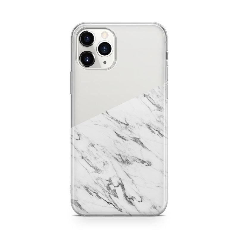 Half White Clear Marble Case iPhone Case Get.Casely Classic iPhone 11 Pro