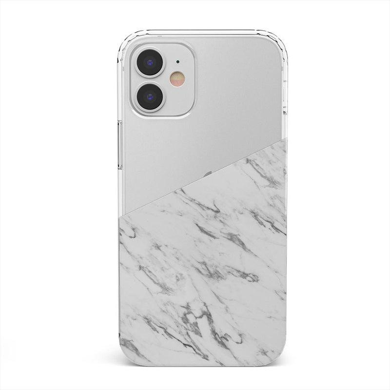 Half White Clear Marble Case iPhone Case get.casely Classic iPhone 12 Mini