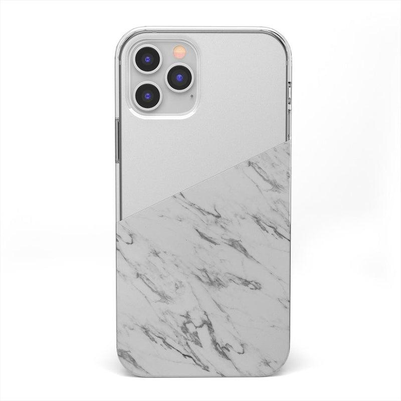 Half White Clear Marble Case iPhone Case get.casely Classic iPhone 12 Pro