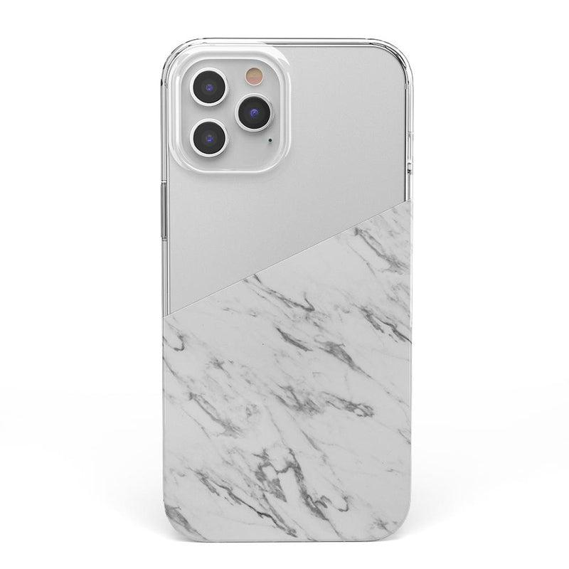 Half White Clear Marble Case iPhone Case get.casely Classic iPhone 12 Pro Max