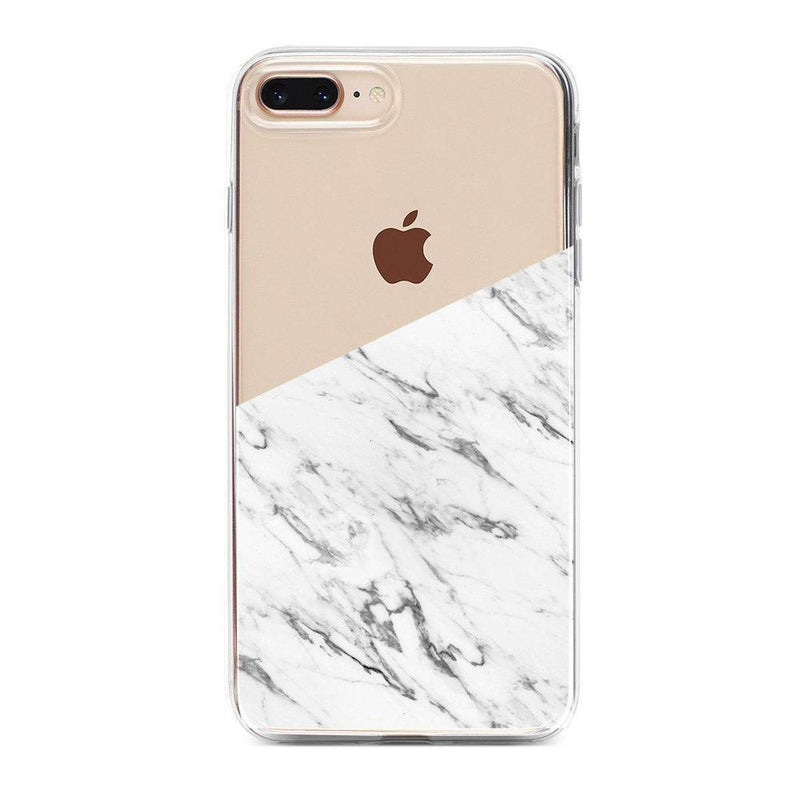 Half White Clear Marble Case iPhone Case Get.Casely Classic iPhone 6/6s Plus
