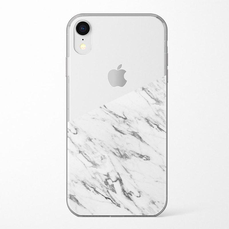 Half White Clear Marble Case iPhone Case Get.Casely Classic iPhone XR