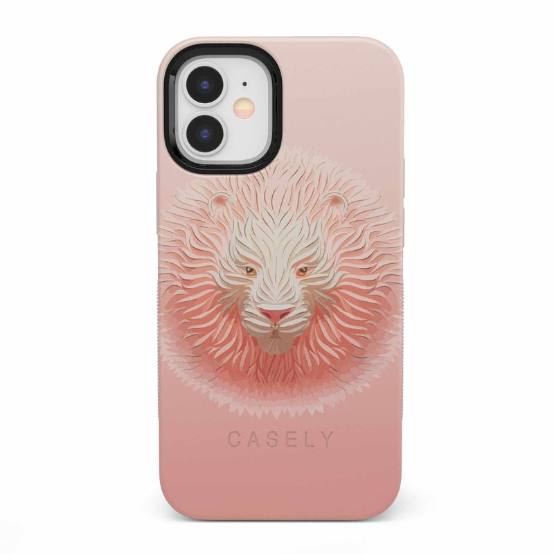 Hear Me Roar | Blush Lion Case iPhone Case get.casely Bold iPhone 12 Mini