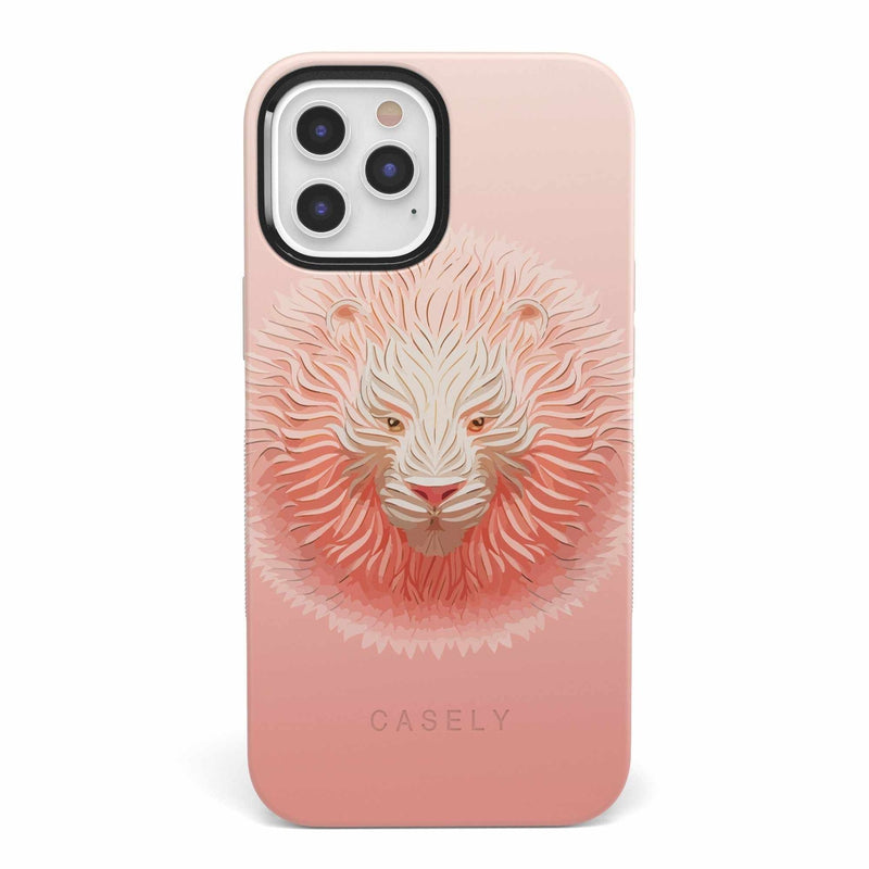 Hear Me Roar | Blush Lion Case iPhone Case get.casely Bold iPhone 12 Pro