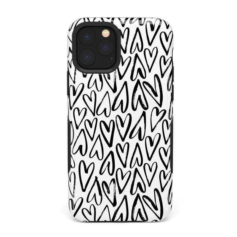 Heart Throb | Endless Hearts Case iPhone Case Get.Casely Bold iPhone 11 Pro