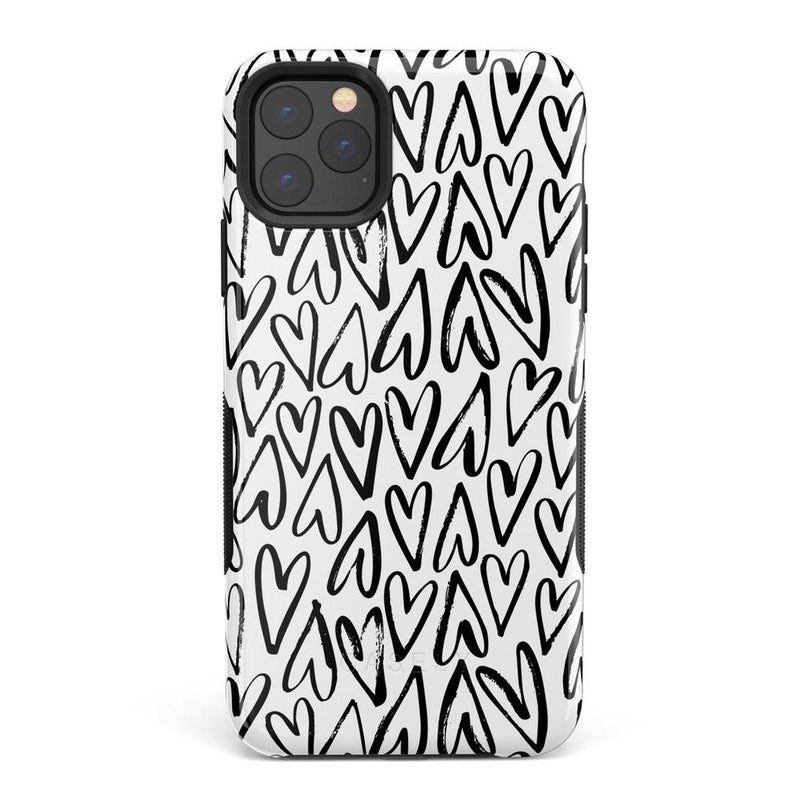 Heart Throb | Endless Hearts Case iPhone Case Get.Casely Bold iPhone 11 Pro Max