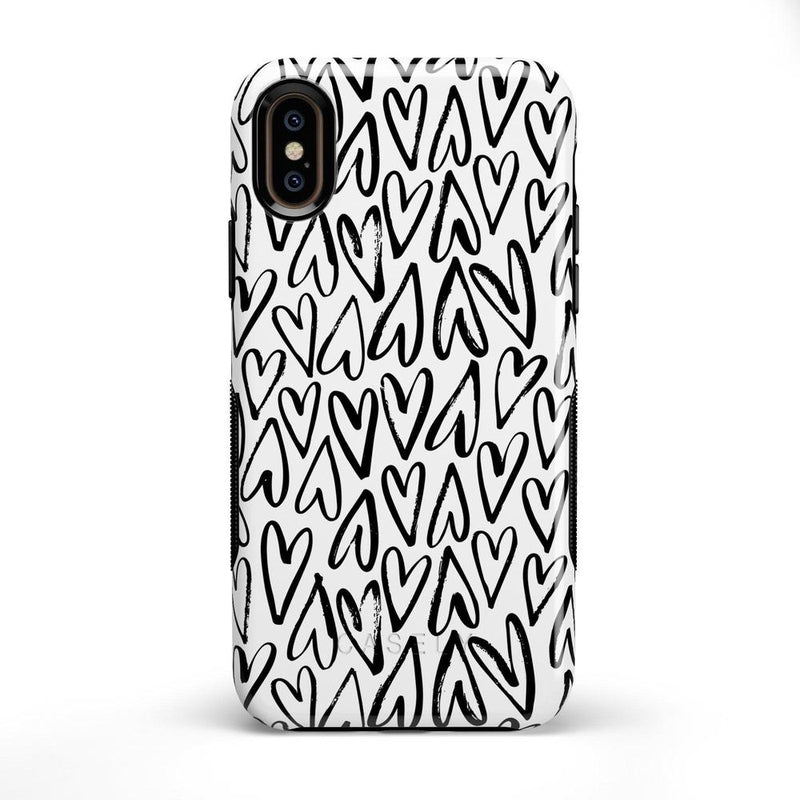 Heart Throb | Endless Hearts Case iPhone Case Get.Casely Bold iPhone X / XS