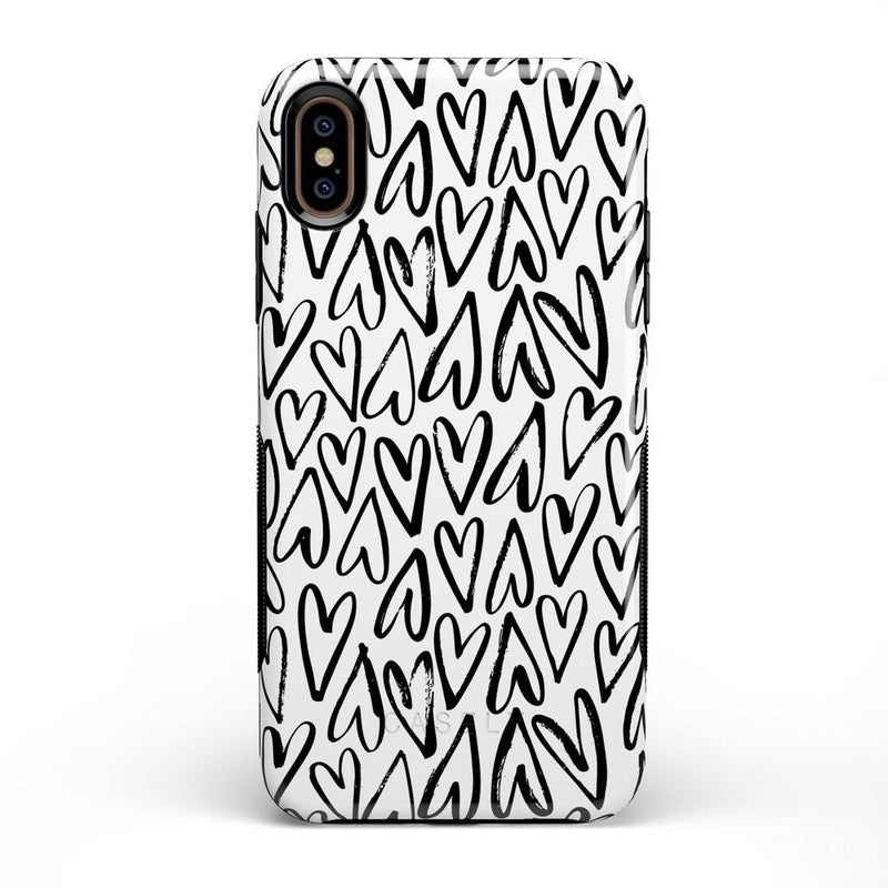 Heart Throb | Endless Hearts Case iPhone Case Get.Casely Bold iPhone XS Max