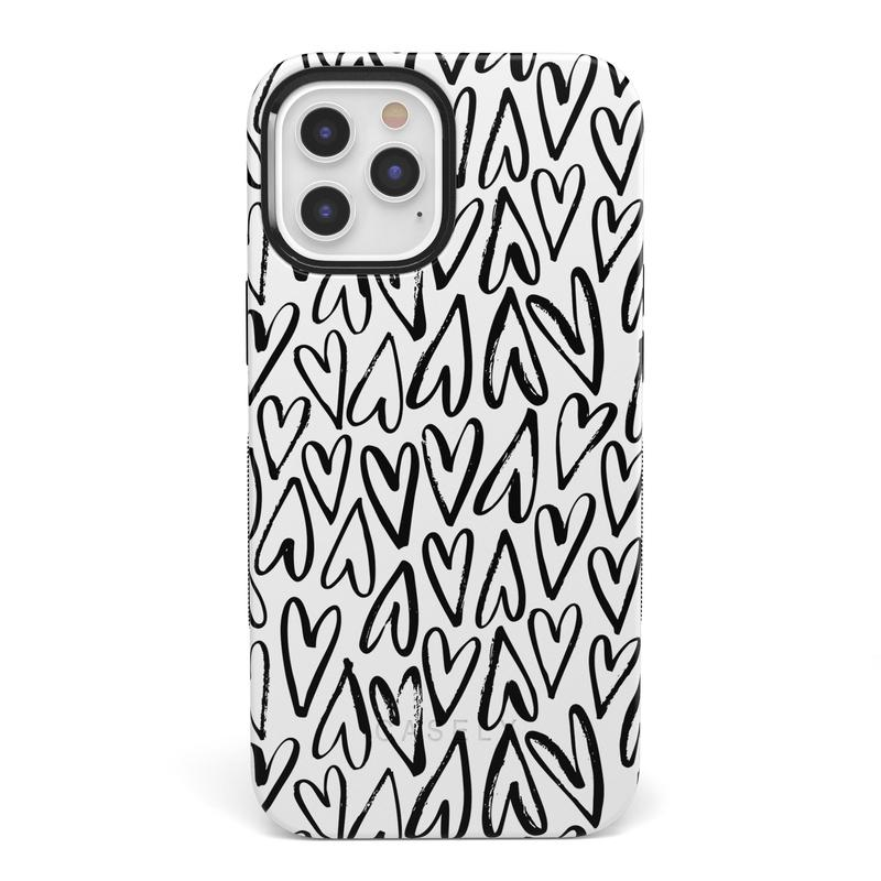 Heart Throb | Endless Hearts Case iPhone Case get.casely Bold + MagSafe® iPhone 12 Pro