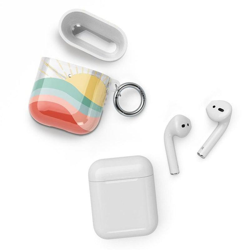 Here Comes the Sun | Colorblock Sunset AirPods Case AirPods Case CASELY