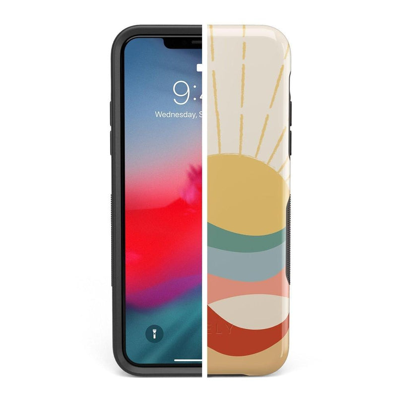 Here Comes the Sun | Colorblock Sunset Case iPhone Case Get.Casely