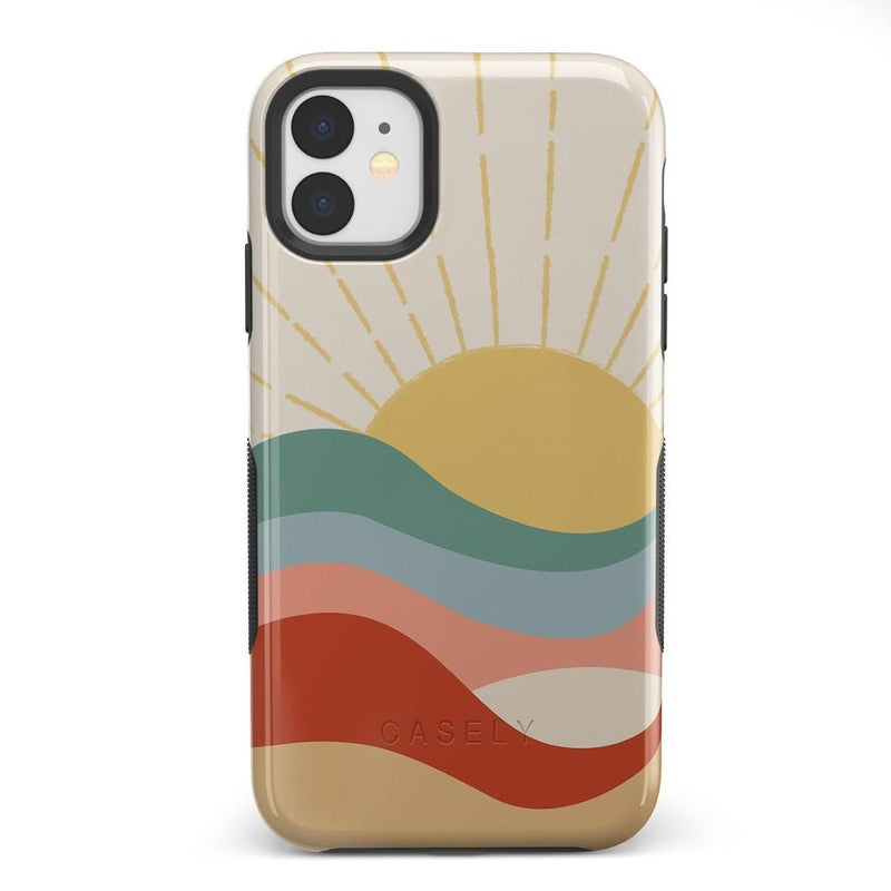 Here Comes the Sun | Colorblock Sunset Case iPhone Case Get.Casely Bold iPhone 11