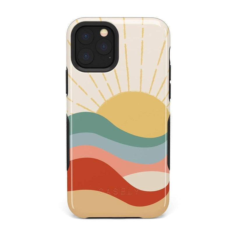 Here Comes the Sun | Colorblock Sunset Case iPhone Case Get.Casely Bold iPhone 11 Pro