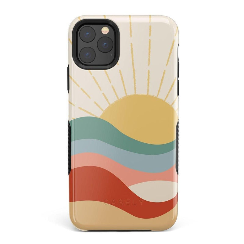 Here Comes the Sun | Colorblock Sunset Case iPhone Case Get.Casely Bold iPhone 11 Pro Max