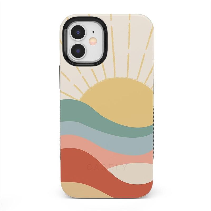 Here Comes the Sun | Colorblock Sunset Case iPhone Case get.casely Bold iPhone 12 Mini