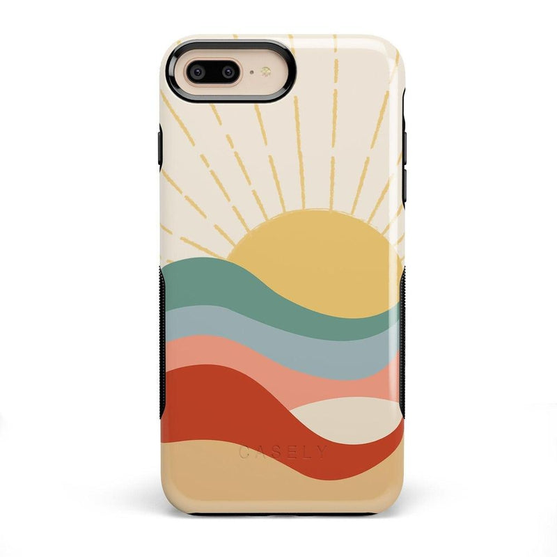 Here Comes the Sun | Colorblock Sunset Case iPhone Case Get.Casely Bold iPhone 8 Plus