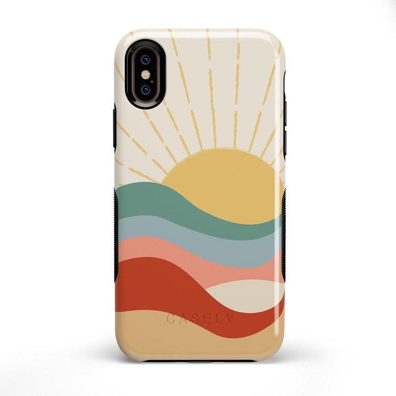 Here Comes the Sun | Colorblock Sunset Case iPhone Case Get.Casely Bold iPhone X / XS