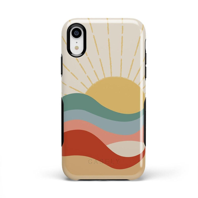 Here Comes the Sun | Colorblock Sunset Case iPhone Case Get.Casely Bold iPhone XR
