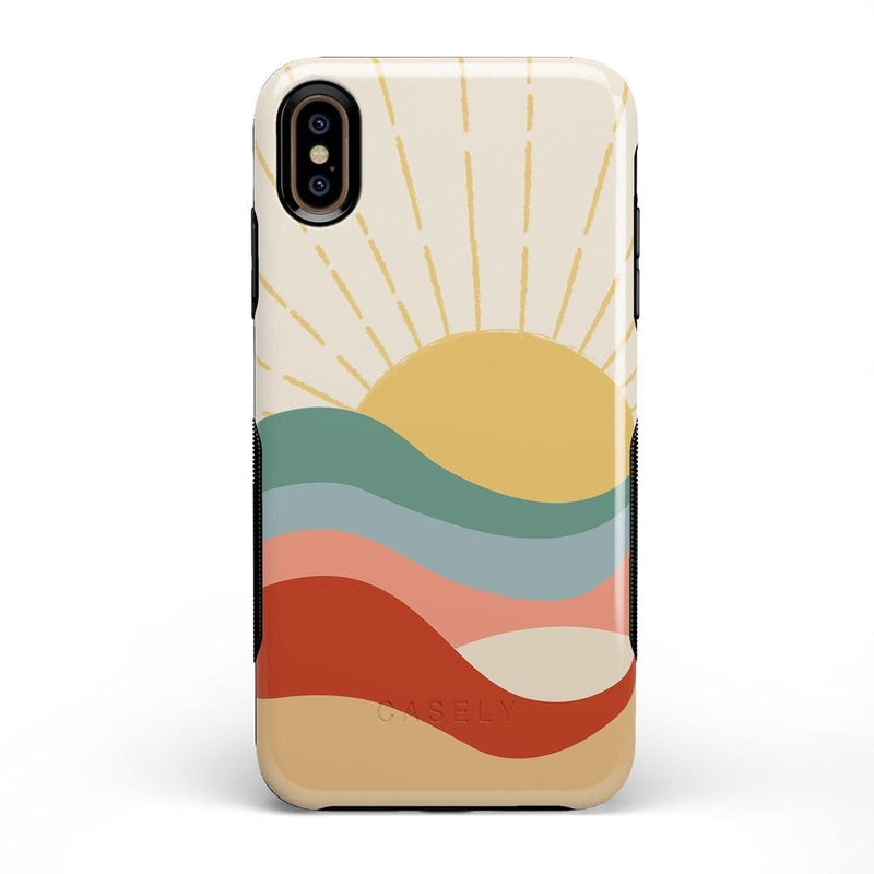 Here Comes the Sun | Colorblock Sunset Case iPhone Case Get.Casely Bold iPhone XS Max