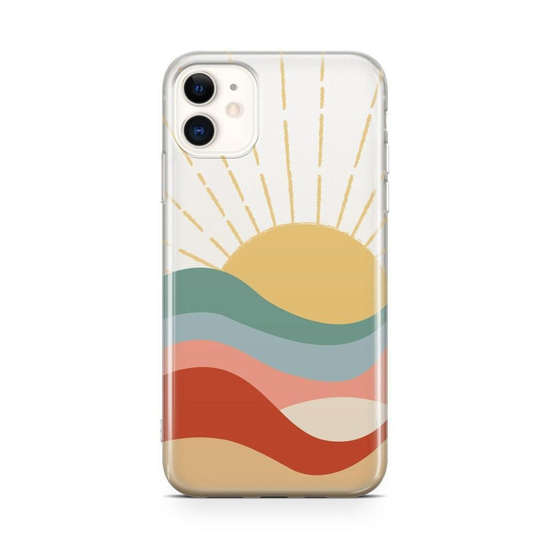 Here Comes the Sun | Colorblock Sunset Case iPhone Case Get.Casely Classic iPhone 11