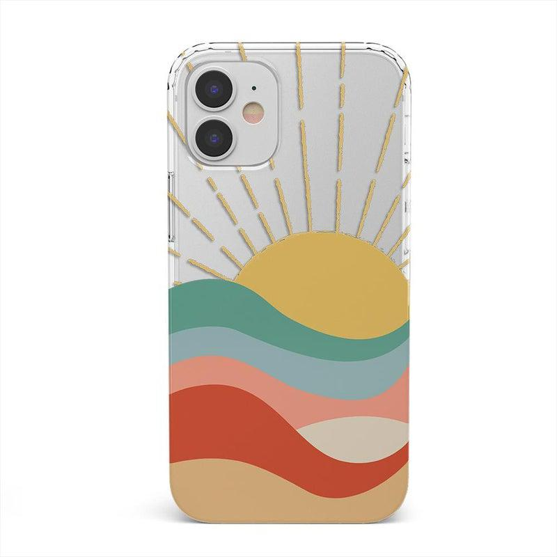 Here Comes the Sun | Colorblock Sunset Case iPhone Case get.casely Classic iPhone 12 Mini