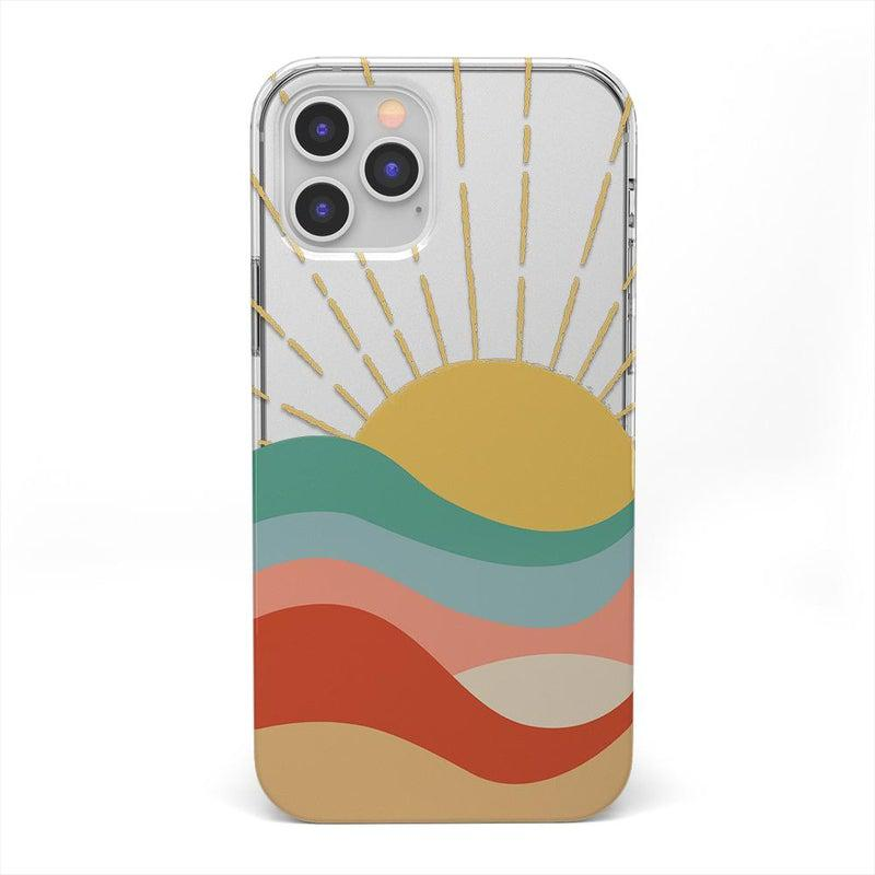 Here Comes the Sun | Colorblock Sunset Case iPhone Case get.casely Classic iPhone 12 Pro