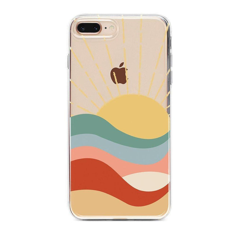 Here Comes the Sun | Colorblock Sunset Case iPhone Case Get.Casely Classic iPhone 8 Plus