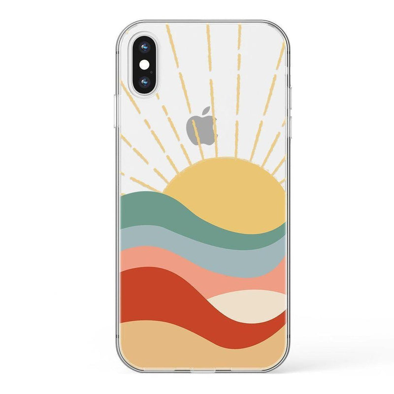 Here Comes the Sun | Colorblock Sunset Case iPhone Case Get.Casely Classic iPhone XS Max