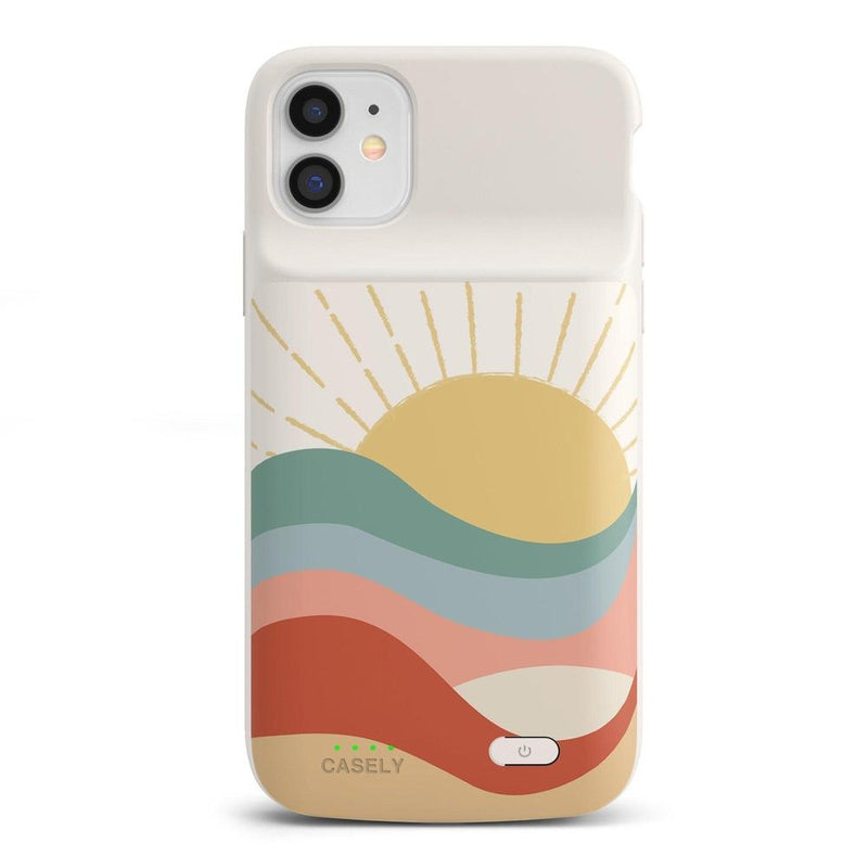 Here Comes the Sun | Colorblock Sunset Case iPhone Case get.casely Power 2.0 iPhone 11