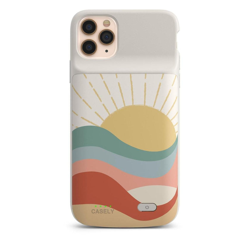 Here Comes the Sun | Colorblock Sunset Case iPhone Case get.casely Power 2.0 iPhone 11 Pro Max
