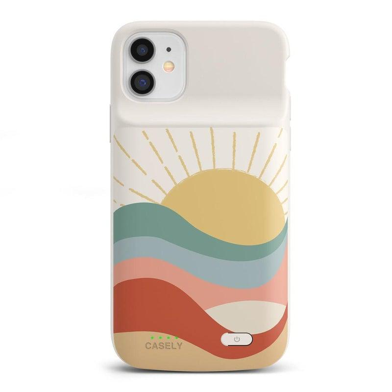 Here Comes the Sun | Colorblock Sunset Case iPhone Case get.casely Power 2.0 iPhone 12 Mini